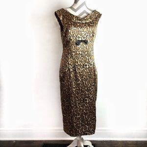 Bettie Page Dresses - Bettie Page | Leopard pencil pinup dress | XL